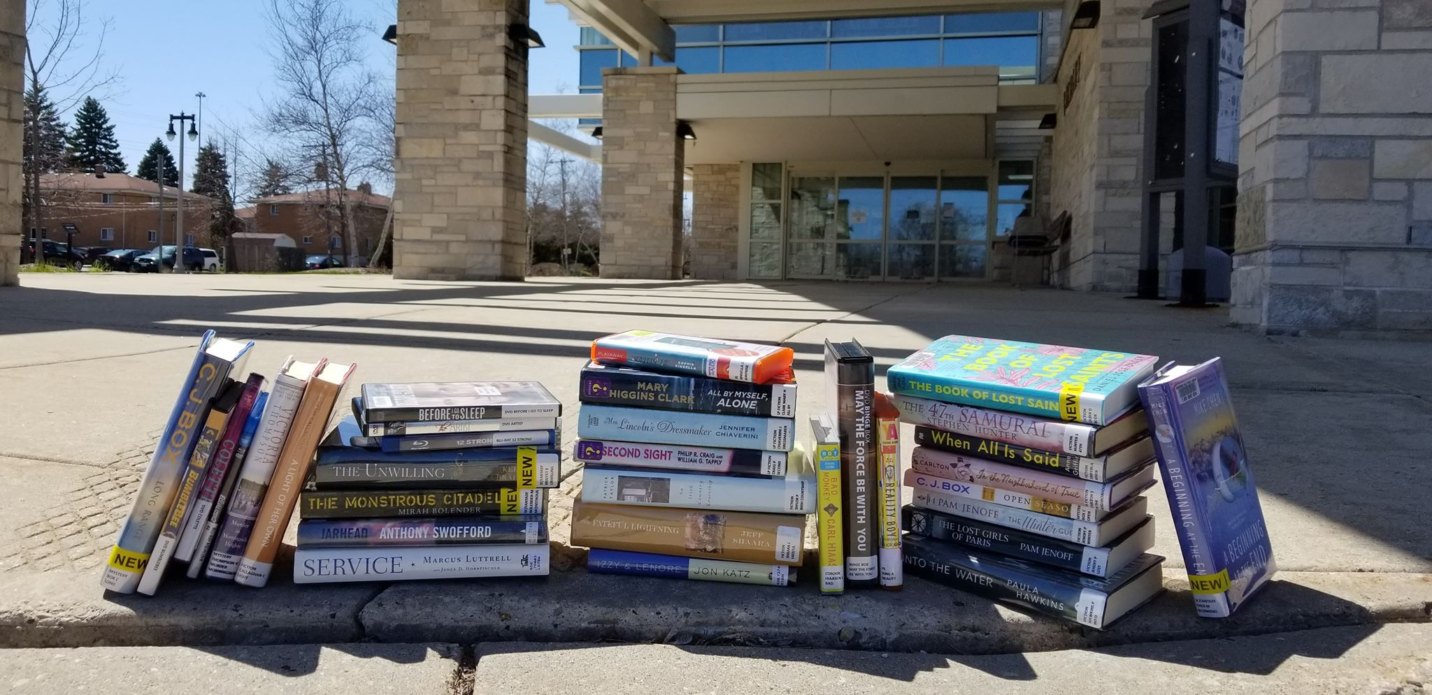 books on curb