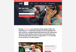screenshot of United Way: first call for help home page