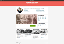 screenshot of heritagequest home page