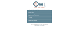 screenshot of Ohio Web Library homepage